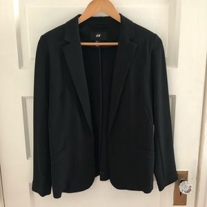 H&M black slinky dressy evening blazer